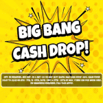 Big Bang: £2 - £500 Cash Drop at Bonzo Spins