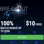 100% Match Bonus up to $200 & $10 Free