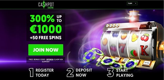 Cashpot Casino welcome bonus