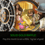 CasinoLuck: Solid Gold Raffle – Win a 1KG bar