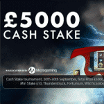 £5000 Cash Stake tournament at Coin Falls