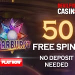 50 Free Spins No Deposit from Devilfish Casino