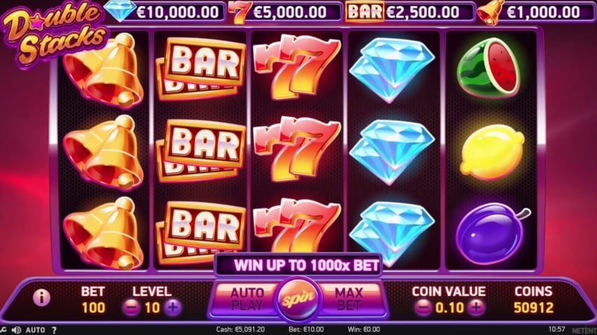 Double Stacks Video Slot - NetEnt