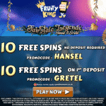 20 Free Spins on Fairytale Legends at Fruity King