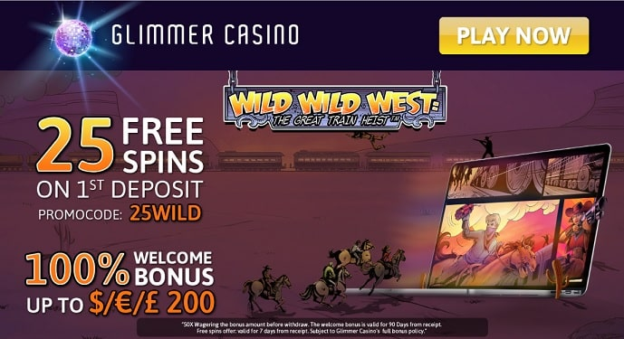 Glimmer Casino welcome offer