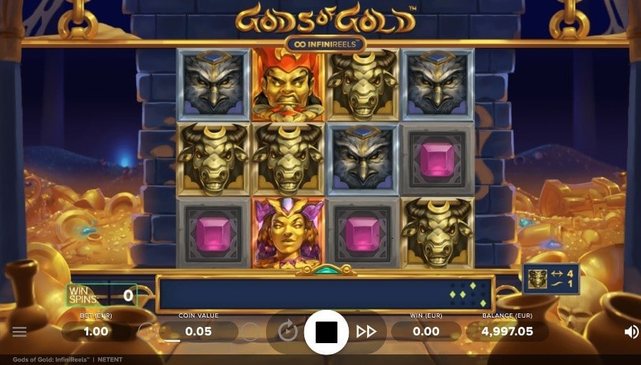 Gods of Gold: Infinireels Video Slot - NetEnt