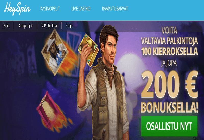 HeySpin Casino Home Page