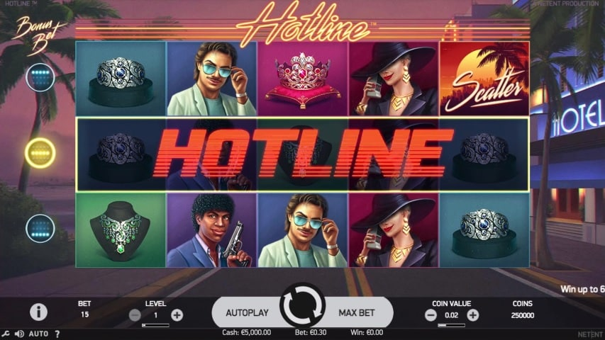 Hotline Video Slot - NetEnt