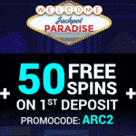 120 Free Spins in Arcader from Jackpot Paradise