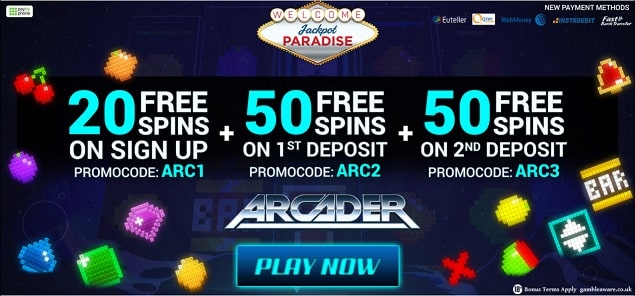 Jackpot Paradise free spins