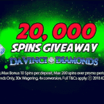 20,000 Spins Giveaway by casino Kerching