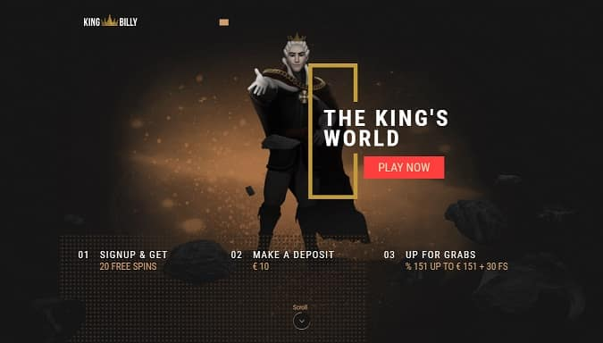 Exclusive Welcome Package Au Nz King Billy Casino