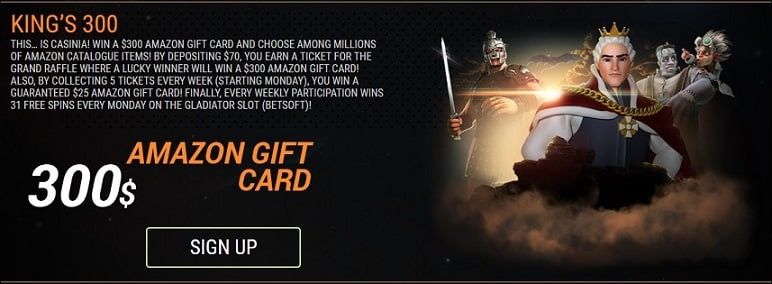 King Billy Casino promotion