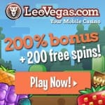 200 Free Spins for NetEnt's Starburst at Leo Vegas