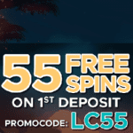 55 Free Spins & 100% Bonus at Lucks Casino