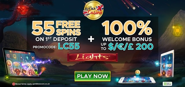 Lucks Casino free spins + bonus