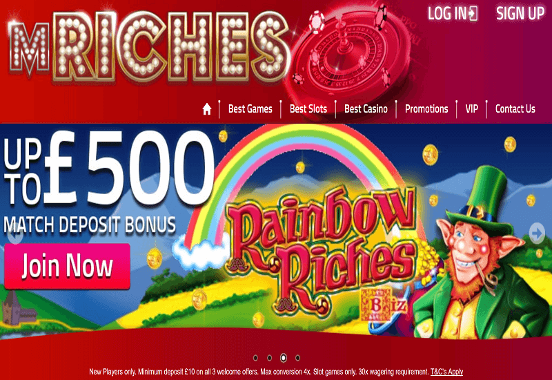 mRiches Casino Home Page