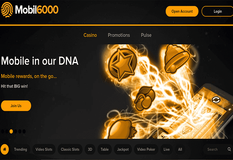 Mobil6000 Casino Home Page