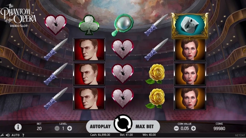The Phantom of the Opera Video Slot from NetEnt