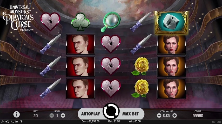 Universal Monsters: The Phantom's Curse Video Slot from NetEnt
