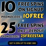 10 Free Spins + 50 more at Schmitts Casino