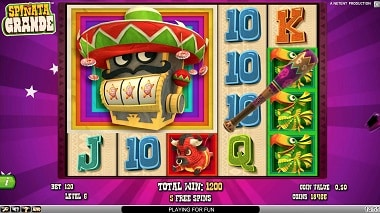 NetEnt Video Slot - Spinata Grande