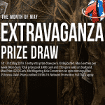 Extravaganza Prize Draw -  in May