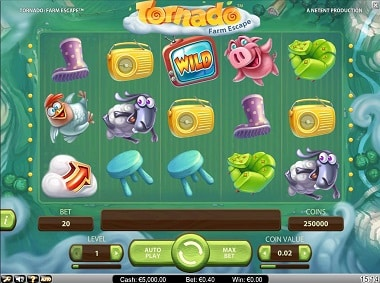 NetEnt Video Slot - Tornado: Farmscape