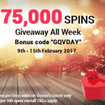 Touch Lucky is giving away 75,000 Free Spins