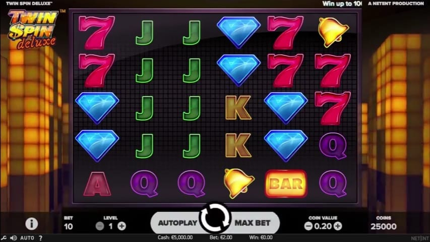 Twin Spin Deluxe Video Slot from NetEnt