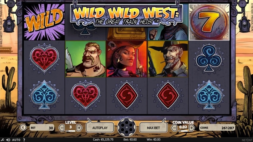 Wild Wild West: The Great Train Heist Video Slot from NetEnt