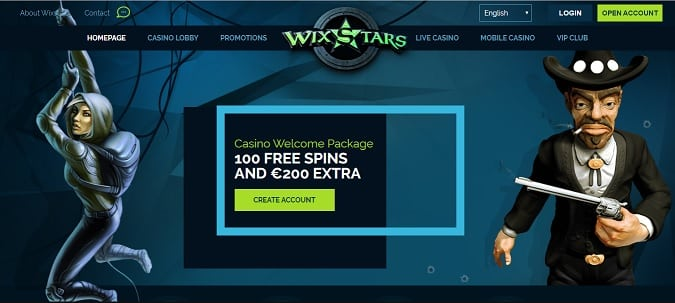 Wixstars Casino promotion